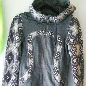 Lululemon Live Simply jacket- grey jaquard